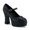 MARYJANE-50G Black Glitter